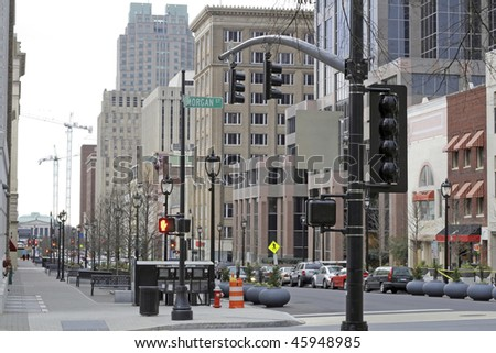 Downtown of Raleigh - stock photo