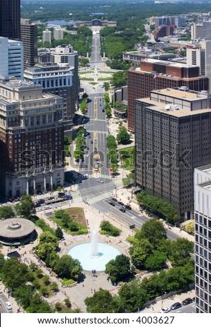 Downtown Philadelphia - stock photo