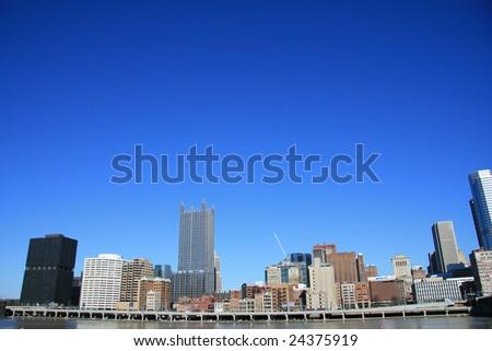 Downtown Pittsburgh's Skyline - stock photo
