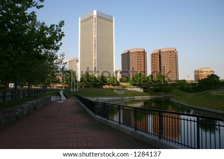 Downtown Richmond by the Canal - stock photo