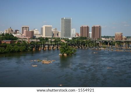 Downtown Richmond Skyline - stock photo