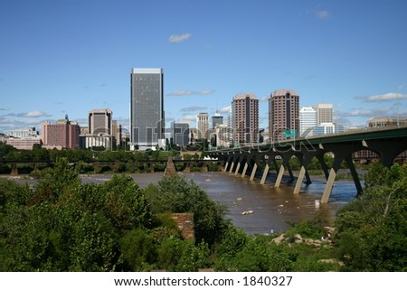 Downtown Richmond - View from the Lookout - stock photo