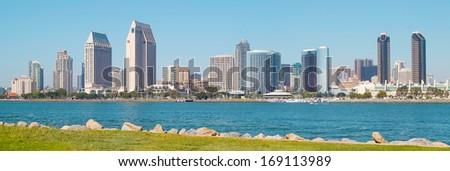 Downtown San Diego City, San Diego California USA, Skyline - stock photo