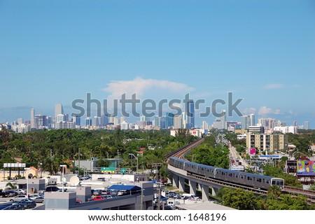 Downtown skyline - stock photo