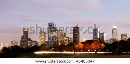 Downtown Skyline, Houston, Texas - stock photo