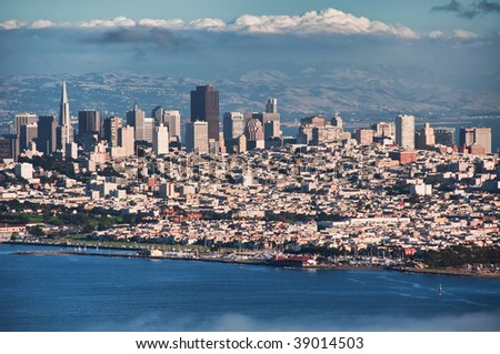 downtown skyline, san francisco, ca, usa