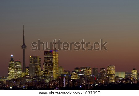 downtown toronto - stock photo