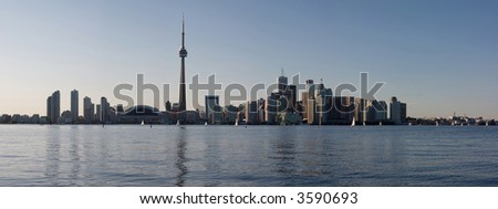 Downtown Toronto at late afternoon - stock photo