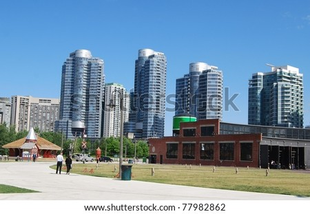 Downtown Toronto in Canada - stock photo