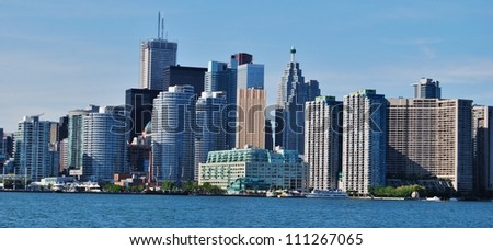 Downtown Toronto Skyline Waterfront in Canada - stock photo