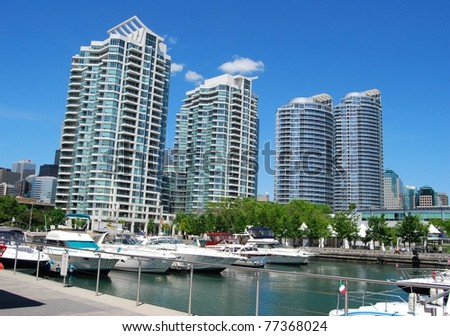Downtown Toronto Waterfront - stock photo