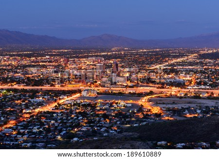 Downtown Tucson Arizona - stock photo