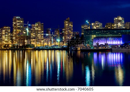 Downtown Vancouver at night