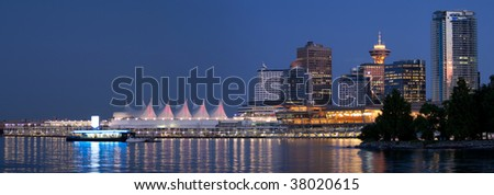 Downtown Vancouver Panorama - stock photo