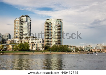 Downtown Vancouver Residential Buildings by False Creek.