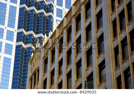 Downtown windows - Old and New