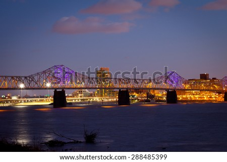 Dr. Martin Luther King Jr. Expressway, Louisville, Kentucky - stock photo