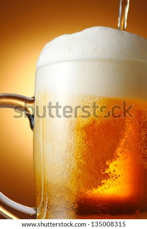 Draft beer - stock photo