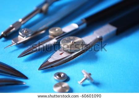 Drafting tools - stock photo