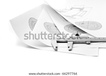 drafts on a white background - stock photo