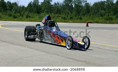 drag race car - stock photo