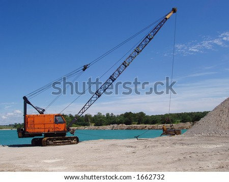 dragline - stock photo