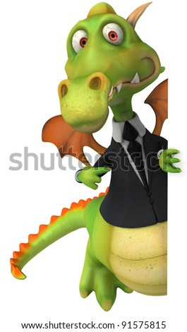 Dragon and suit