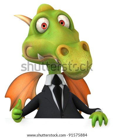 Dragon and suit - stock photo