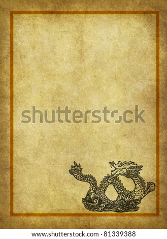 Dragon and texture background