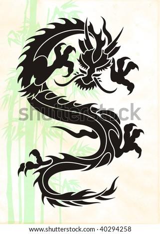 Dragon background - stock photo