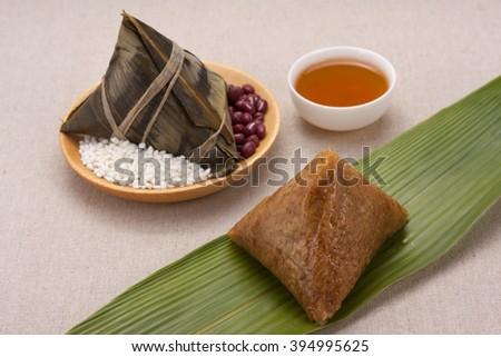 Dragon Boat Festival traditional food dumplings - stock photo