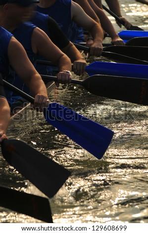 dragon boat race - stock photo