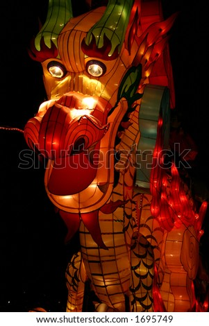 Dragon during Lantern Festival