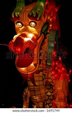 Dragon during Lantern Festival - stock photo