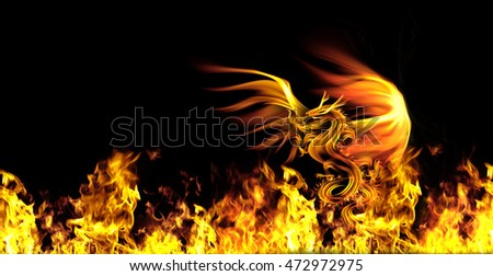 dragon fire on a black background .
