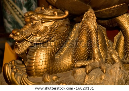 Dragon from buddhistic pagoda in Vietnam