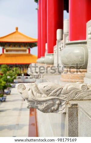 Dragon heads (Forbidden city, Beijing) - stock photo