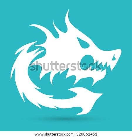 dragon icon - stock photo