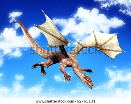 dragon looking for food - stock photo