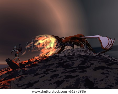 Dragon Slayer - stock photo
