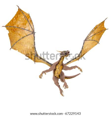 dragon soaring - stock photo