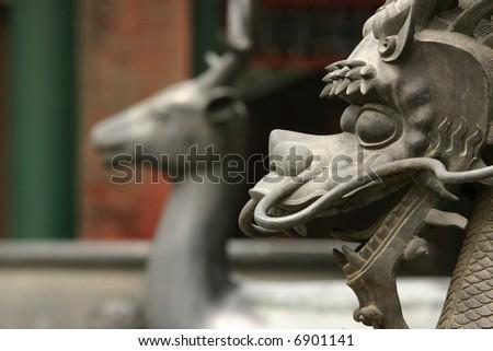 Dragon Statue 2 - stock photo