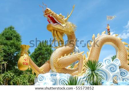 dragon, taton temple,thailand - stock photo