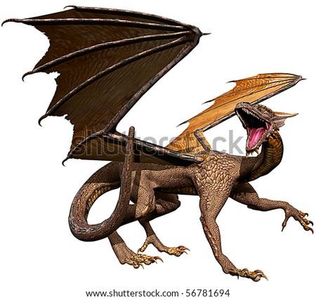 dragon walk - stock photo