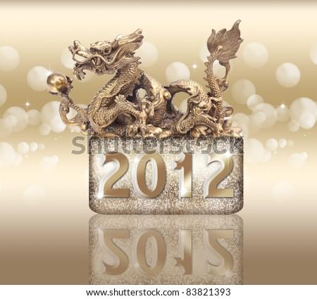 Dragon year 2012 - stock photo