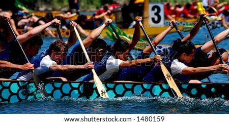 Dragonboats - stock photo