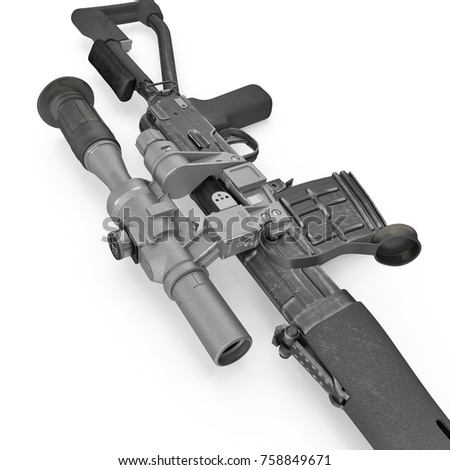 how to draw a dragunov sniper rifle