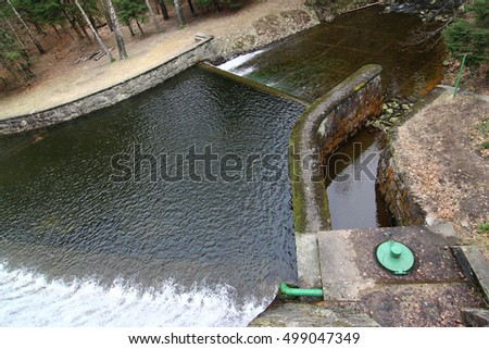 Drain channel of dam