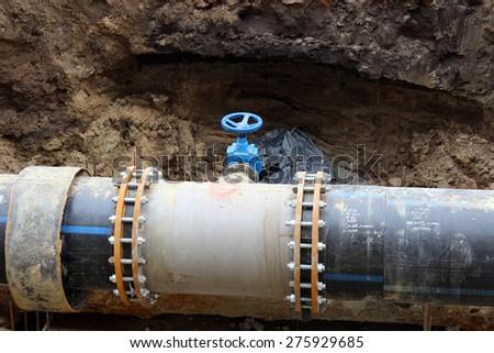 drainage Pipes - stock photo