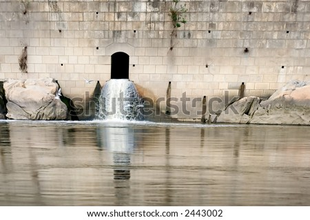 Drainage System Outflow - stock photo